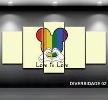 Conjunto paineis Quadro Mosaico 5 Peças DIVERSIDADE - Neyrad