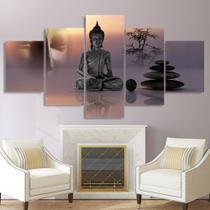 Conjunto paineis Quadro mosaico 5 peças Zen buddha estátua menditation Painel decorativo mosaico - Neyrad