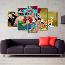 Conjunto paineis Quadro mosaico One Piece 5 Peças - Neyrad