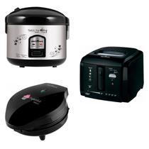 Conjunto Panela Elétrica, Máquina de Cupcake e Fritadeira 127V Britânia Preto -