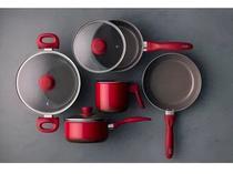 Conjunto Panelas 5pcs Ceramic Brinox Life Smart Vermelho -