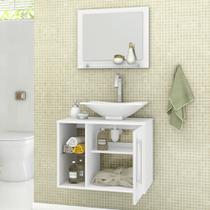 Conjunto para Banheiro 1 Porta 1 Prateleira de Vidro Baden Bechara -