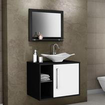 Conjunto para Banheiro Baden Preto/Branco Bechara Móveis -