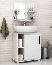 Conjunto para banheiro branco brv móveis -