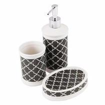 Conjunto Para  Banheiro Cerâmica Com 3 Peças. - Hauskraft