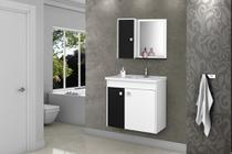 Conjunto para Banheiro Munique Branco/Preto - Bechara