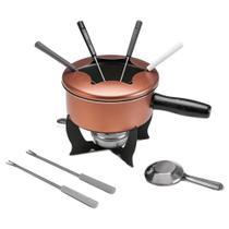 Conjunto para fondue 10 Peças - Cobre Brinox -