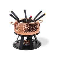 Conjunto para fondue 11 peças aço inox cobre brinox 1256/100 -