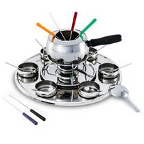 Conjunto para fondue 24 peças aço inox brinox 1243/116 -