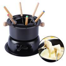 Conjunto para fondue preto 11 peças - Etilux