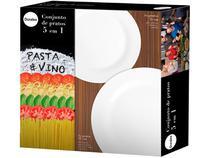 Conjunto para Pizza 5 Peças Duralex - Opaline Menu Pasta e Vino