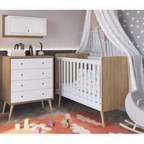 Conjunto Para Quarto Infantil 03 Peças CBINF18 Itapua Branco Completa Moveis - Completa Móveis