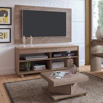 Conjunto para Sala de Estar com Rack com Painel e Mesa de Centro Canela Siena Móveis Canela -