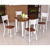 Conjunto para Sala de Jantar Ipê Mesa em Madeira 80 cm Branca e 04 Cadeiras Modelo 551 - Modecor