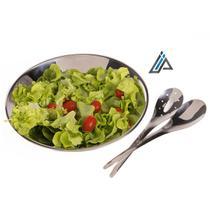 Conjunto Para Salada de Aço Inox 30Cm - Domama