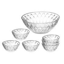 Conjunto para Sobremesa 7 Peças Vidro Diamante - Art