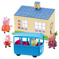 Conjunto Peppa Pig Escolinha E Ônibus Escolar DTC -