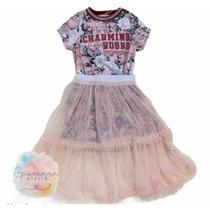 Conjunto Petit Cherie Infantil Charming Saia Midi Inverno -