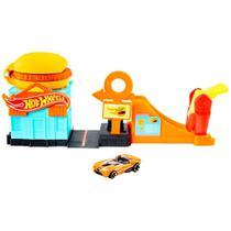 Conjunto Pista Hot Wheels Loja de Hambúrguer - Mattel -