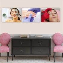 Conjunto Placas Decorativa Estética Limpeza de Pele Manicure Unha Micropigmentação Sobrancelha - Adoro Decor