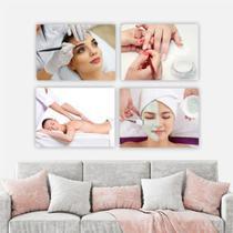 Conjunto Placas Decorativa Salão Unha Massagem Limpeza De Pele Designer De Sobrancelha - Adoro Decor