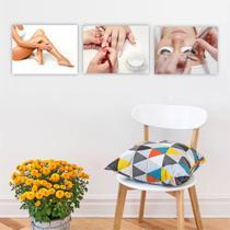 Conjunto Placas Decorativas Estética Depilação Unha Cílios - Adoro Decor