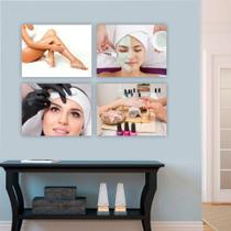 Conjunto Placas Decorativas Estética Limpeza De Pele Designer de Sobrancelha Depilação Manicure Unha - Adoro Decor