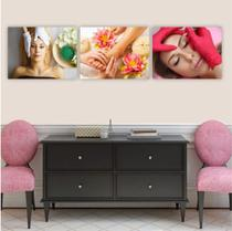Conjunto Placas Decorativas Estética Limpeza de Pele Unha Sobrancelha - Adoro Decor