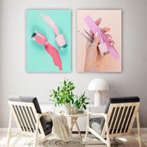 Conjunto Placas Decorativas Estética Manicure Salão Unha Alongamento - Adoro Decor