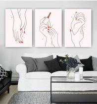 Conjunto Placas Decorativas Estética Manicure unhas mãos Esmalte - Adoro Decor