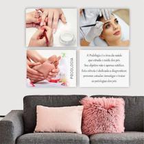 Conjunto Placas Decorativas Estética Podologia Manicure Unhas Gel Designer de Sobrancelha - Adoro Decor