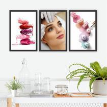 Conjunto Placas Decorativas Estética Unha Esmalte Sobrancelha - Adoro Decor