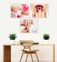 Conjunto Placas Decorativas Manicure Unha Esmalte - Adoro Decor