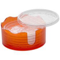 Conjunto Porta Copos 6 Peças Com Suporte Vermelho 215Vm Ricaelle -