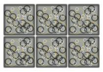Conjunto Porta Copos com 6 unid (2 em 1) Imantados - Real - Formalivre