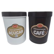 Conjunto Porta Mantimentos Açúcar Café Melida 2,5 Litros -