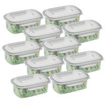 Conjunto Pote Alimentos Plástico Alto com Travas 460ml 10un - Nitron