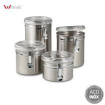 Conjunto Pote Hermético de Inox 04 peças - Wellmix