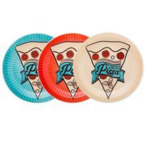 Conjunto Prato Pizza 26cm Sortido 3 Peças - Oxford Daily
