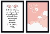 Conjunto Quadros Decorativos 2 peças 40x60 Menina Anjo - Arte Na Arte