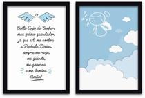 Conjunto Quadros Decorativos 2 peças 40x60 Menino Anjo - Arte Na Arte