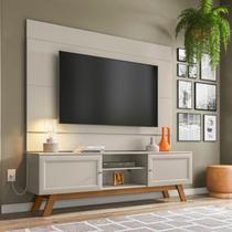 Conjunto Rack com Painel para TV até 60 Polegadas Ema Retrô Yescasa Off White -