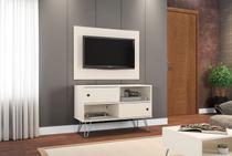 Conjunto Rack Com Painel Para TV Sala Com Pes de Aço Fendi - Moveis Bechara