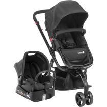 Conjunto Safety1st: Carrinho de Bebê Travel System Mobi TS + Bebê Conforto One-Safe XT com Base - Full Black -