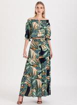 Conjunto saia e blusa estampado ref. F1181920 - Fashionista