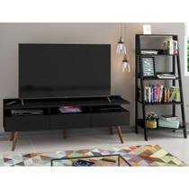 Conjunto Sala de Estar Madesa Rack Londres e Estante Escada