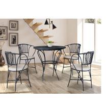 Conjunto Sala de Jantar 4 Cadeiras Barcelona Famais -