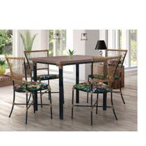 Conjunto Sala de Jantar 4 Cadeiras Gramado Famais -