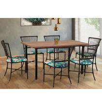 Conjunto Sala de Jantar 6 Cadeiras Gramado Famais -