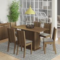 Conjunto Sala de Jantar Celeny Madesa Mesa Tampo de Madeira com 6 Cadeiras -
